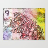 The Robot who melted the Moon Canvas Print