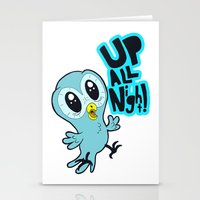 Up All Night!  Stationery Cards