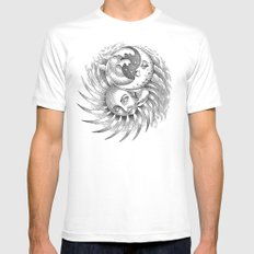 Moon and Sun White Mens Fitted Tee SMALL