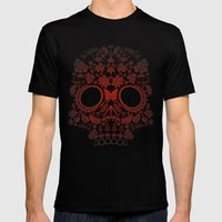 Day Of The Dead Skull No… Mens Fitted Tee Black SMALL
