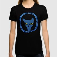 Tyger's Penetrating Stare Womens Fitted Tee Black SMALL