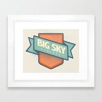 Big Sky, Montana Framed Art Print