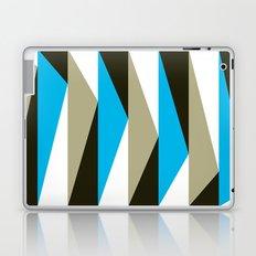 Blue Geometric Triangle Pattern Laptop & iPad Skin