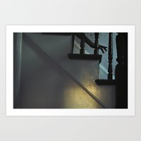 Down the Stairs Art Print