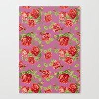 Rose Pattern- Pink Canvas Print