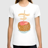 Caramel Apple Om Nom Nom Womens Fitted Tee White SMALL