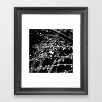 Rain Obstruction Framed Art Print