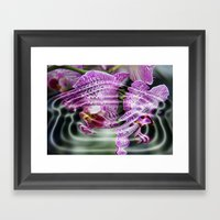 Sunken Orchids Framed Art Print