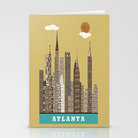 Atlanta city vintage Stationery Card