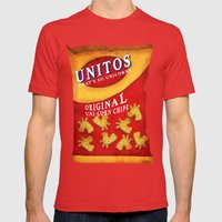 Unicorn Chips Mens Fitted Tee Red SMALL