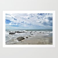 Waiting For Waves Art Print