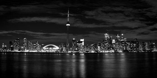 Toronto Skyline, Monocrome Art Print
