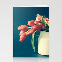 Thinking of You - Sending Tulips Stationery Cards