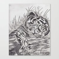 cute tiger Canvas Print