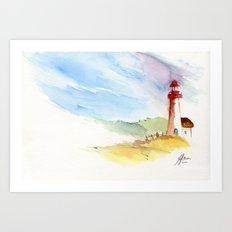 Lighthouse Impressions Art Print