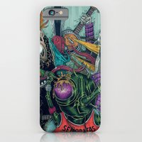 """iPhone & iPod Case featuring Sid Squish and the Death Collectors by Edmund """"eat a pigeon"""" Vansuchtelen"""