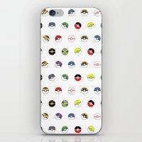 Cute Pokeball Pattern iPhone & iPod Skin