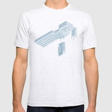 Isometric Council Chambers Mens Fitted Tee Ash Grey SMALL
