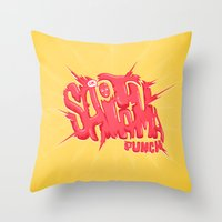 Just An Average Punch Throw Pillow