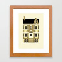 A house (olive option) Framed Art Print
