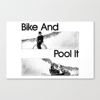 Bike And Pool It Canvas Print