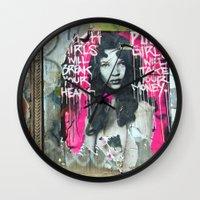 Rich Girl Poor Girl Wall Clock