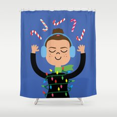 Holiday with Candy Shower Curtain