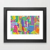 Cityscape windows Framed Art Print
