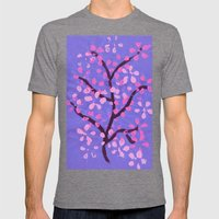 Cherry Blossom Tree Mens Fitted Tee Tri-Grey SMALL