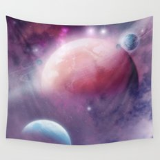 Pink Space Dream Wall Tapestry