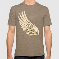 Isaiah 40:31 Wings Like … Mens Fitted Tee Tri-Coffee SMALL