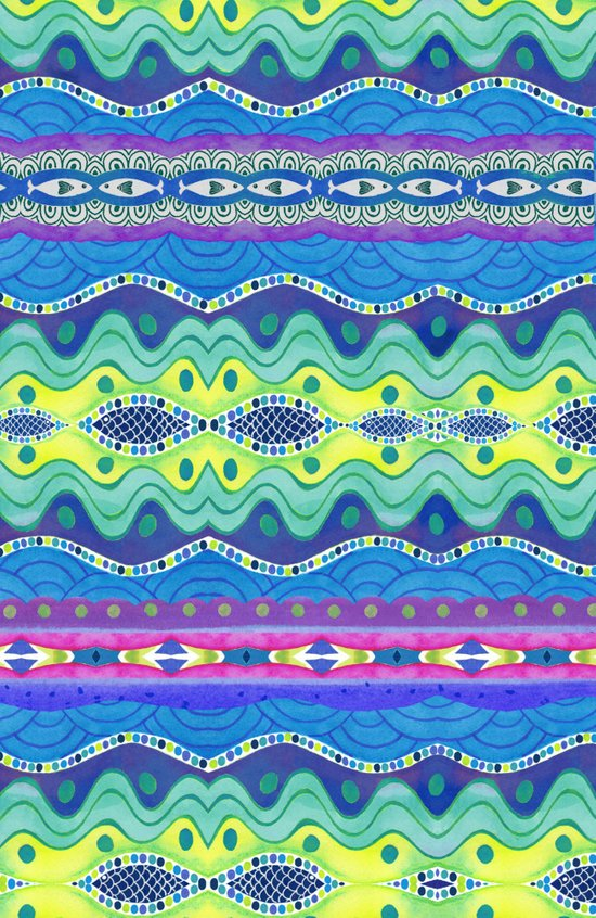 Wavy Stripe Art Print