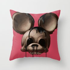 Mickey 1: Chocolate Throw Pillow