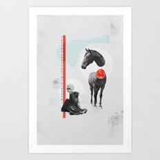 take my horse Art Print