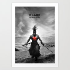 Courage of Samurai Art Print