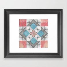 Mosaic Sakura Framed Art Print