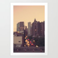 Urban Gold Art Print