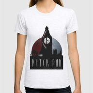 Peter Pan Womens Fitted Tee Ash Grey LARGE