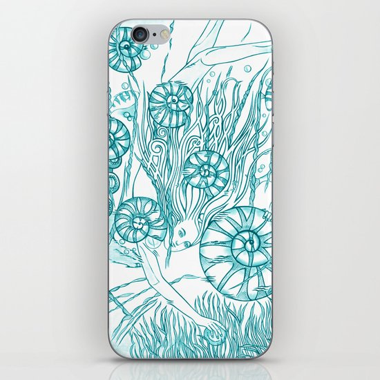 Back To The Water / Original A4 Illustration / Pen & Ink iPhone & iPod Skin