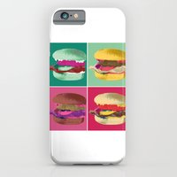 iPhone & iPod Case featuring Pop Art Burger #2 by Charlton Yu