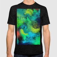 Abstrait Mens Fitted Tee Tri-Black SMALL