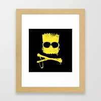 Pochoir - Bart Framed Art Print