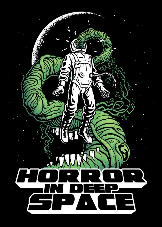 Horror In Deep Space Art Print