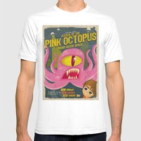 Pink Octopus From Outer … Mens Fitted Tee White SMALL