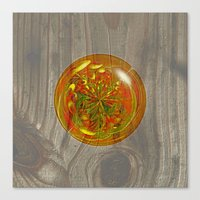 Berry Bubble on wood Canvas Print