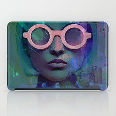 Pink Glasses girl iPad Case