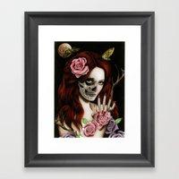 Goodnight Girl Framed Art Print