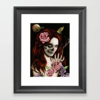 Goodnight Girl Framed Art Print
