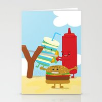 Vegetables Vs. Fast Food Stationery Cards
