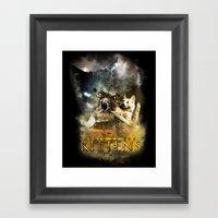 Clash of the Kittens  Framed Art Print